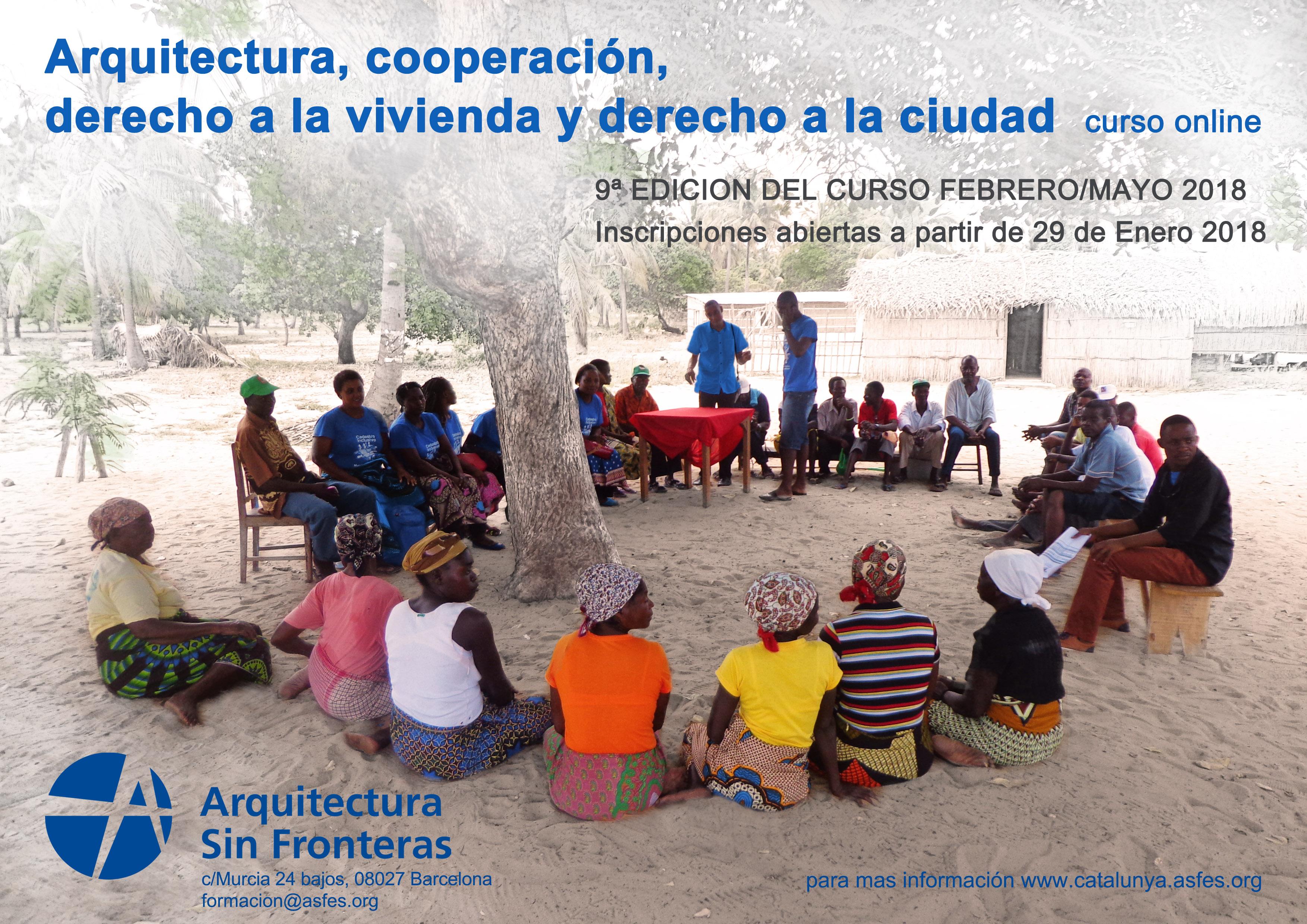 Nova Edició Del Curs Online D'Arquitectura, Cooperació, Dret A L'habitatge I Dret A La Ciutat
