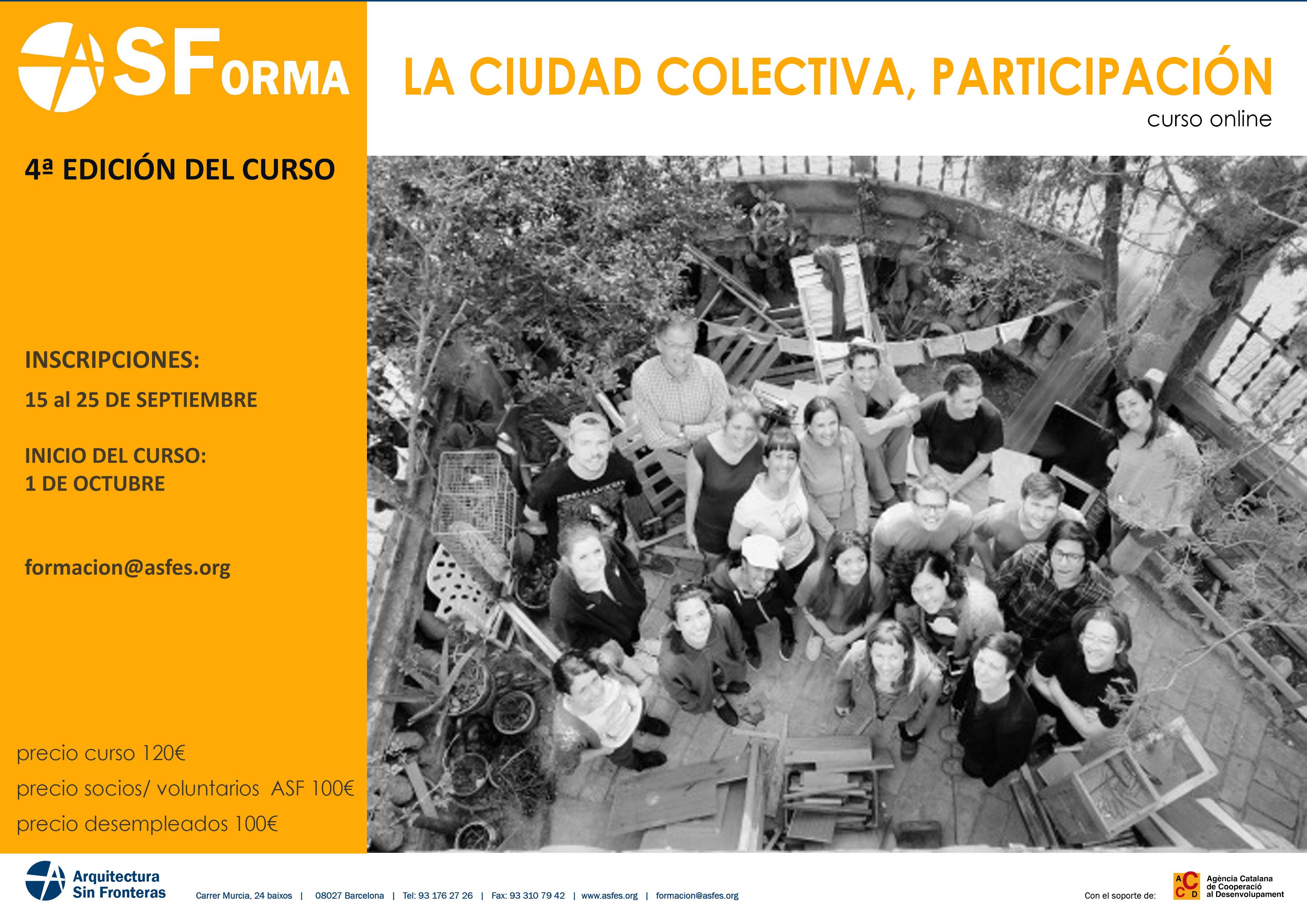 CURS ONLINE: CIUTAT COL·LECTIVA, PARTICIPACIÓ